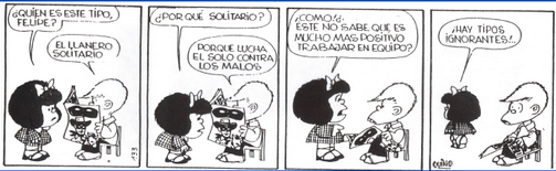 El trabajo en equipo para Mafalda