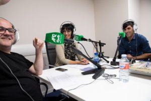 Momento de la entrevista en Teasombro Radio