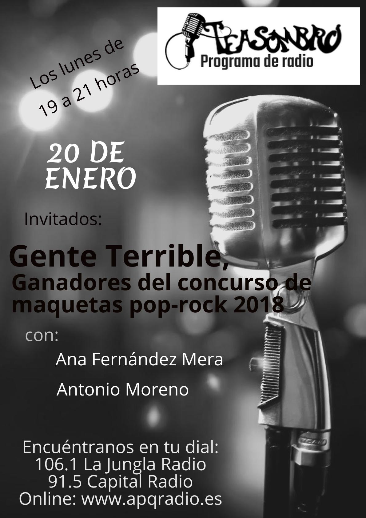 Cartel Programa Teasombro Radio 20-01