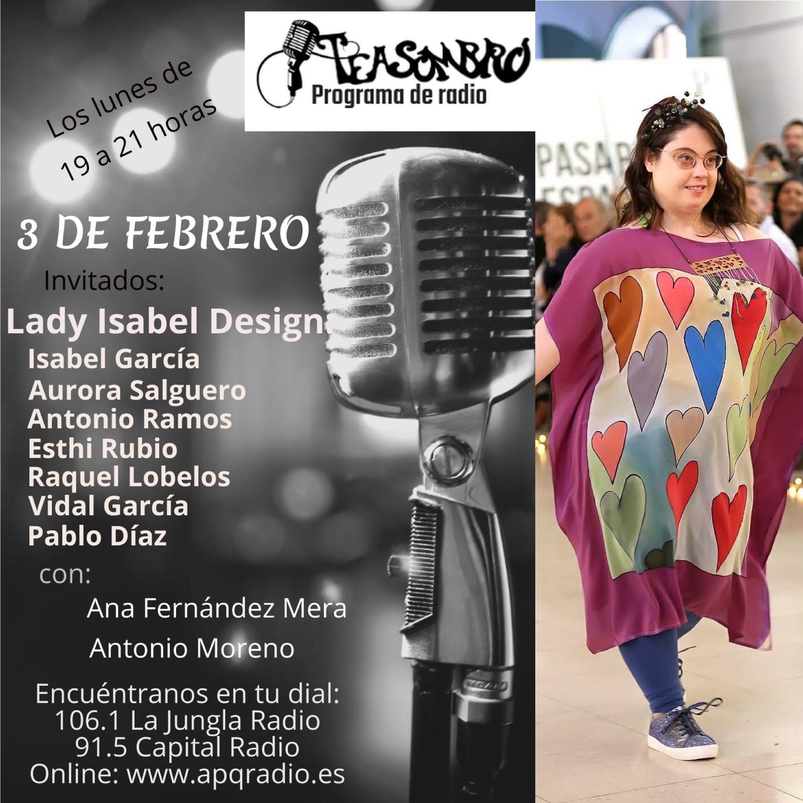 cartel programa teasombro radio 3 de febrero