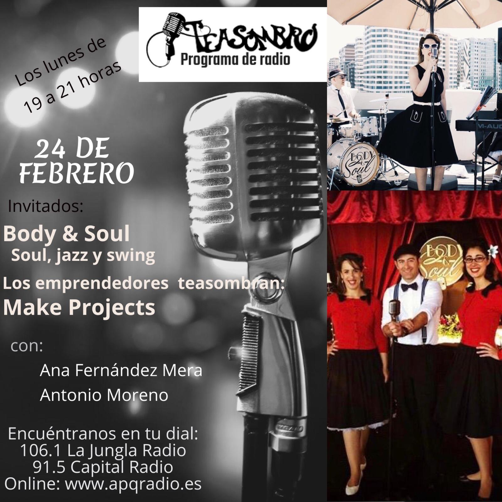 Cartel Programa Teasombro Radio 24 de Febrero